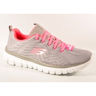 SKECHERS 12615 GRAY/CORAL-0