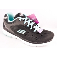 SKECHERS 13059 BLACK/TURQ-0